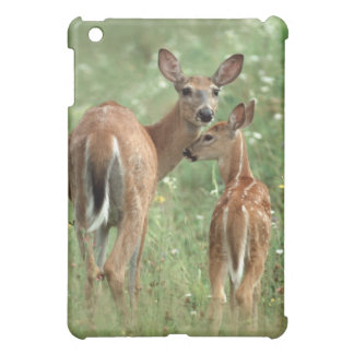 White-tailed Deer With her Spotted Fawn Case For The iPad Mini