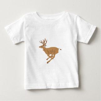 White-Tailed Male Deer (Buck) Running/Galloping T-shirt
