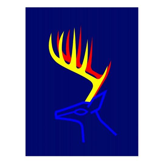 White Taled Deer Postcard