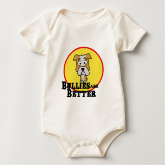 White/Tan Bulldog Baby Bodysuit