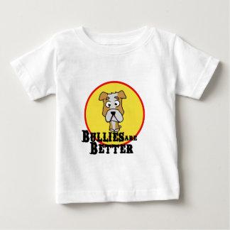 White/Tan Bulldog Baby T-Shirt