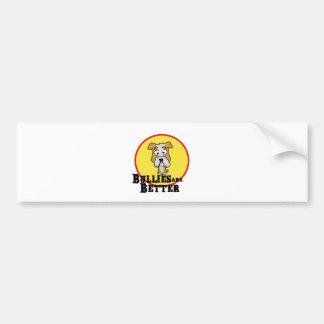 White/Tan Bulldog Car Bumper Sticker