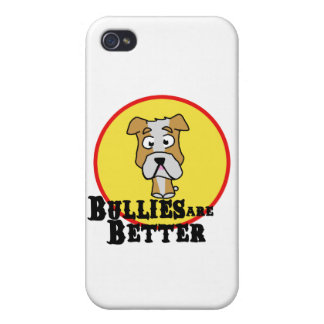 White/Tan Bulldog Covers For iPhone 4