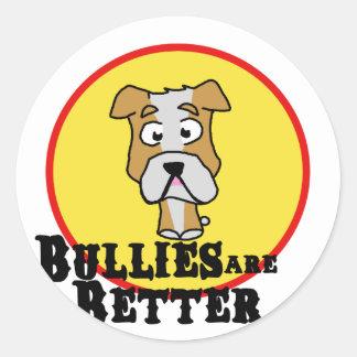 White/Tan Bulldog Stickers