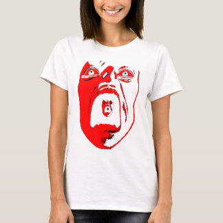 White Tank Top with Red Scream