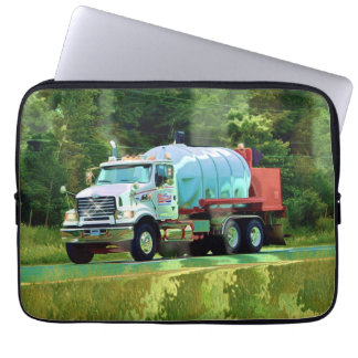 White Tanker Truck Driver's Art Laptop Sleeve