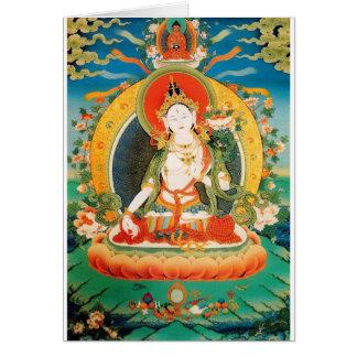 WHITE TARA BUDDHIST DEITY CARD