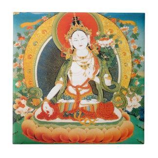 WHITE TARA BUDDHIST DEITY CERAMIC TILE