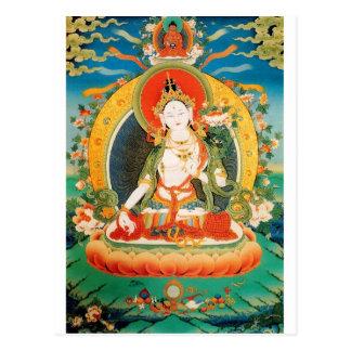 WHITE TARA BUDDHIST DEITY POSTCARD