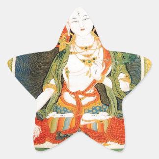 WHITE TARA BUDDHIST DEITY STAR STICKER