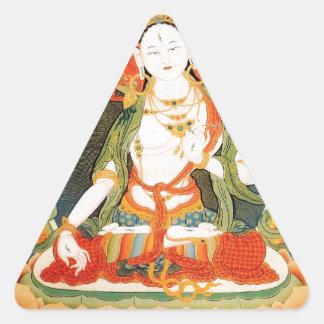 WHITE TARA BUDDHIST DEITY TRIANGLE STICKER