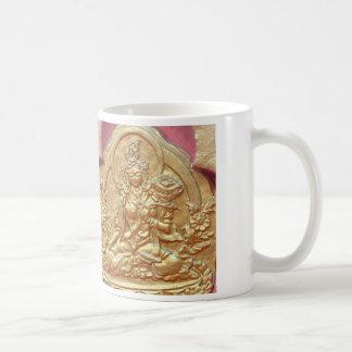 White Tara in gold mug