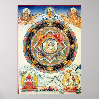 White Tara Mandala Poster