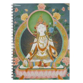 White Tara Notebook