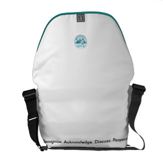 White/Teal Minimalist Messenger Bag
