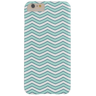White Teal Zigzag Chevron Pattern Barely There iPhone 6 Plus Case