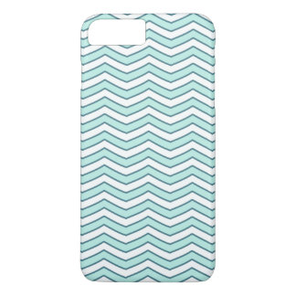 White Teal Zigzag Chevron Pattern iPhone 7 Plus Case