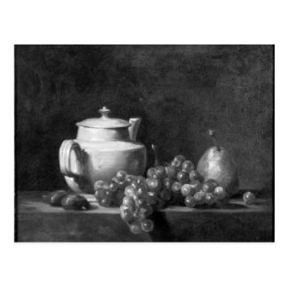 White Teapot with Two Chestnuts Postcard