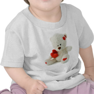 White Teddy bear holding a red heart T Shirt