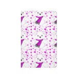 White Teddy Bear with Magenta Hearts Journals