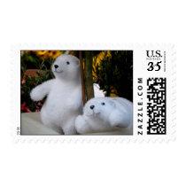 White Teddy Bears in a flowerpot - Postage