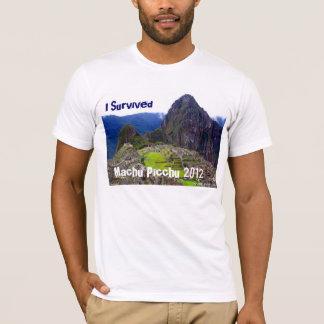 "White Tee ""I Survived Machu Picchu 2012"""