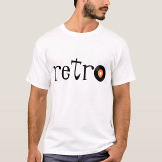 White Tee with Black Retro 45 Record T-shirt - tot