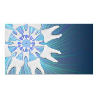 White Teeth Mandala Dentist-Orthodontist Poster