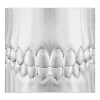 White Teeth  Perfect Occlusion Poster For Dentist