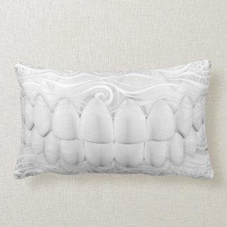 White Teeth Smile Dental Art Pillow