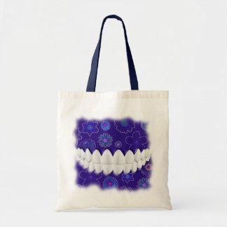 White Teeth Smile Dentist Orthodontist Blue Bag