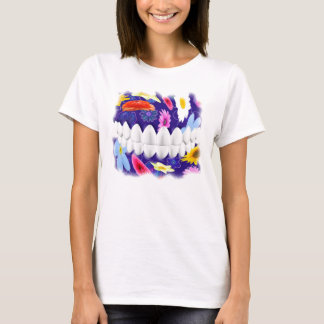 White Teeth Smile Flower Spin Dentist T-shirt