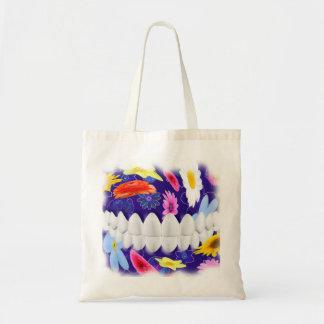 White Teeth Smile Flower Spin Design Dentist Bag