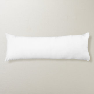 White Template Body Pillow