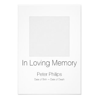 White Template Funeral Announcement Gray Border