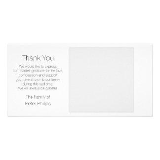 White Template Sympathy Thank you + Gray Border Photo Card