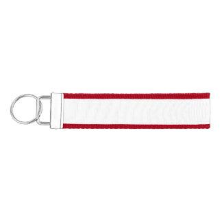 White Template Wrist Keychain