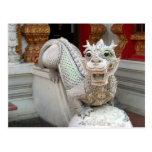 White Temple Dragon Postcard