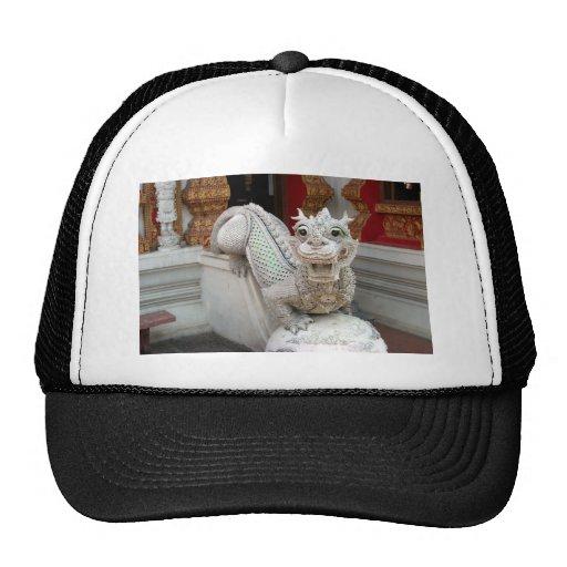 White Temple Dragon Trucker Hat