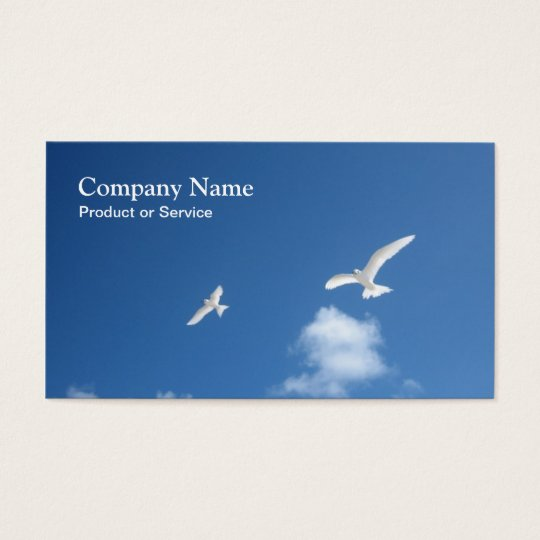 White tern business card