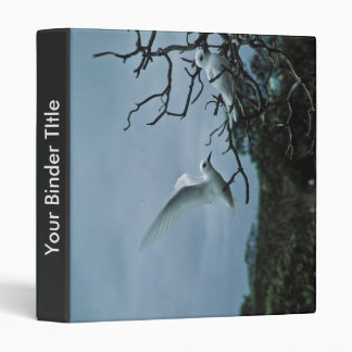 White terns perching on branches 3 ring binder