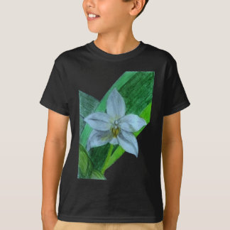 White Terrestrial Orchid T-Shirt