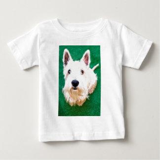 White Terrier Baby T-Shirt