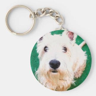 White Terrier Keychain