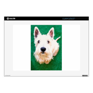 White Terrier Laptop Decals