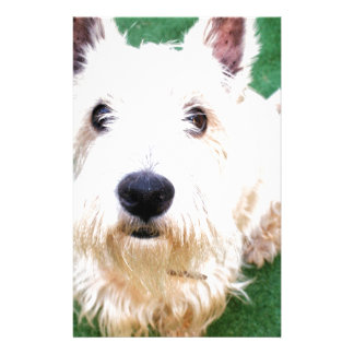 White Terrier Stationery