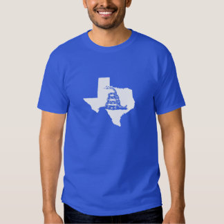 White Texas Shape with Gadsden Snake T-Shirt