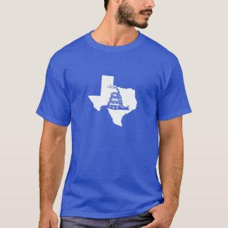 White Texas Shape with Gadsden Snake T-Shirt