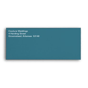 Professional Business White Text Business Classic Teal Blue Envelope
