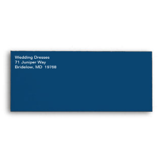 White Text Commercial Traditional Monaco Blue Envelope